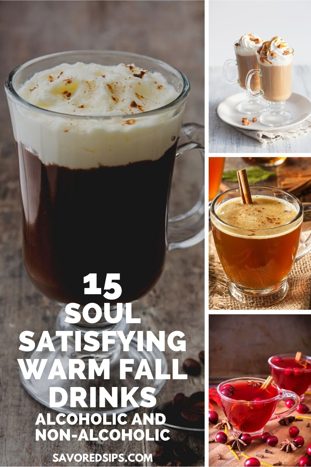 Irish coffee, hot buttered rum, creme brulee latte and wassail