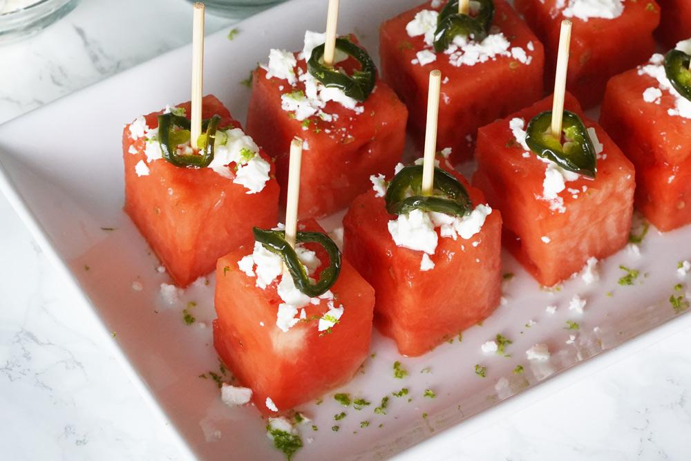 Watermelon Margarita Bites