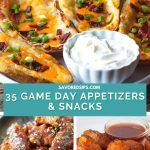 Potato skins, chicken wings and bacon-wrapped tater tots